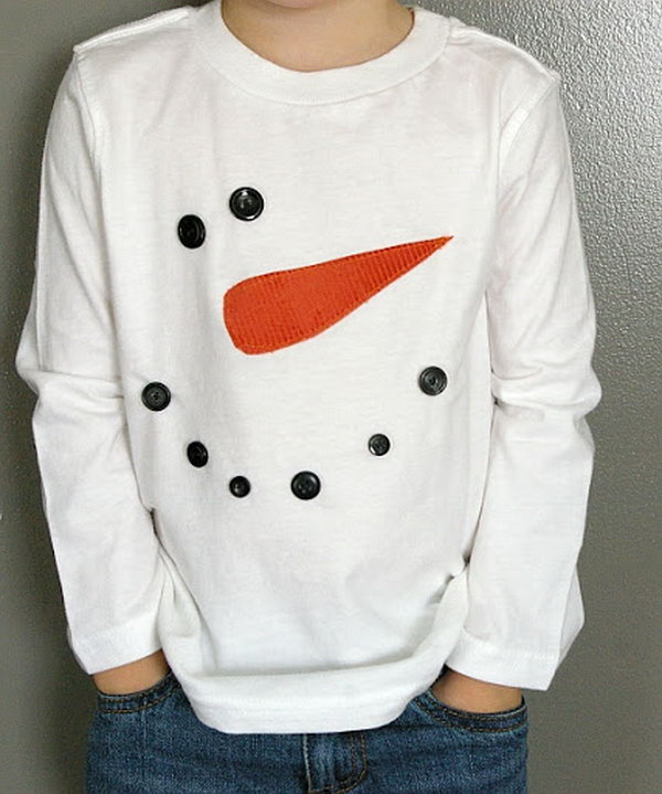 Snowman tshirt. Add charm to any Christmas tree or gift box, and make charming and thoughtful holiday presents for friends and family members.