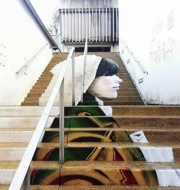 Stairs Street Art.