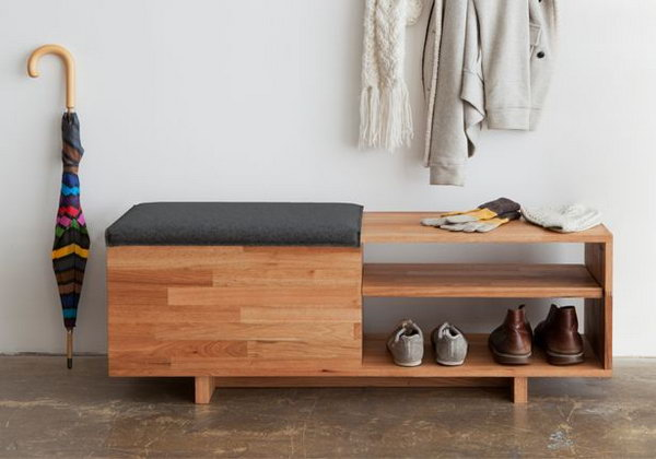 15 Creative Diy Storage Benches 2017