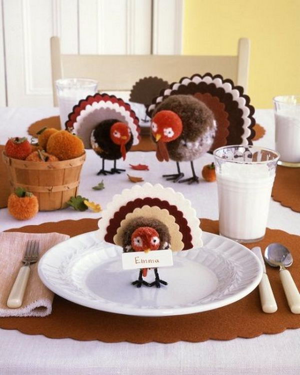 Kids Place Setting Craft Thanksgiving