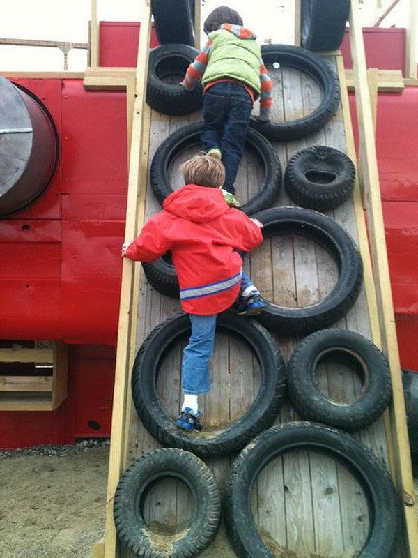 Tire climbing fork kids.