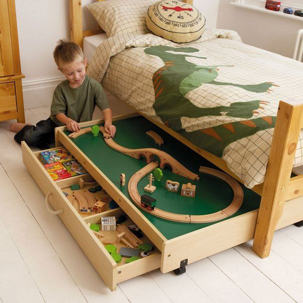 store toys under the bed,