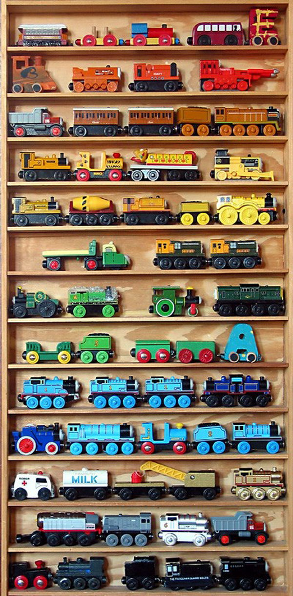 bookshelf for trains,