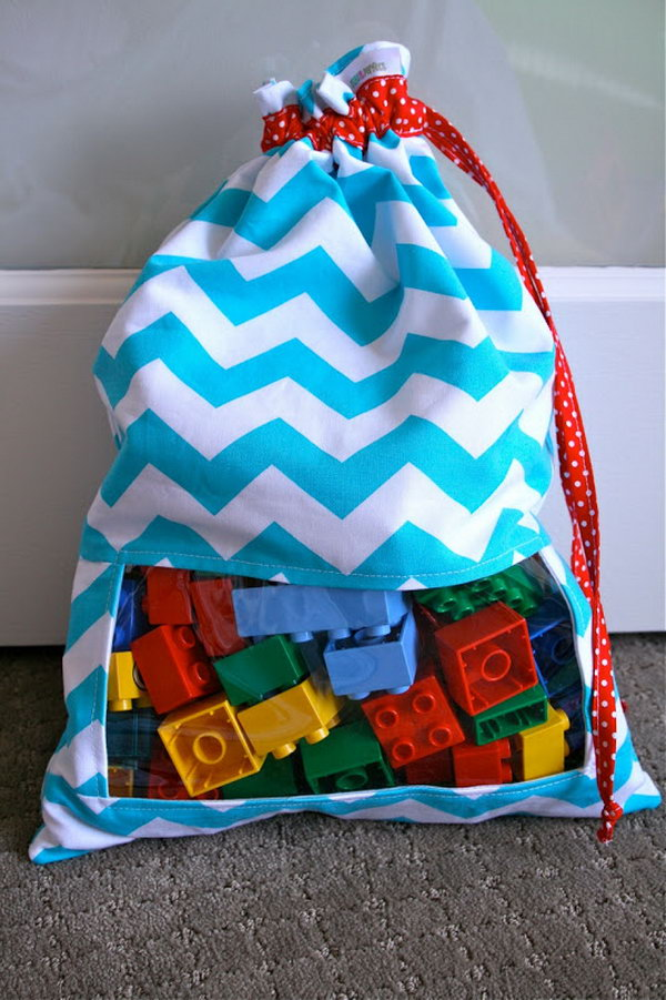 peek a boo bag for toys,