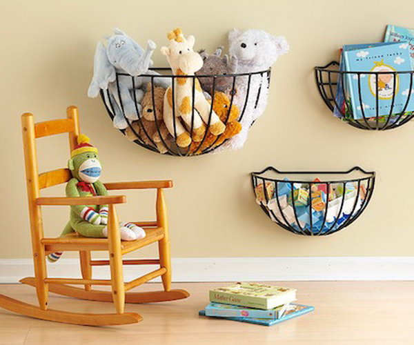 wall mount garden baskets,