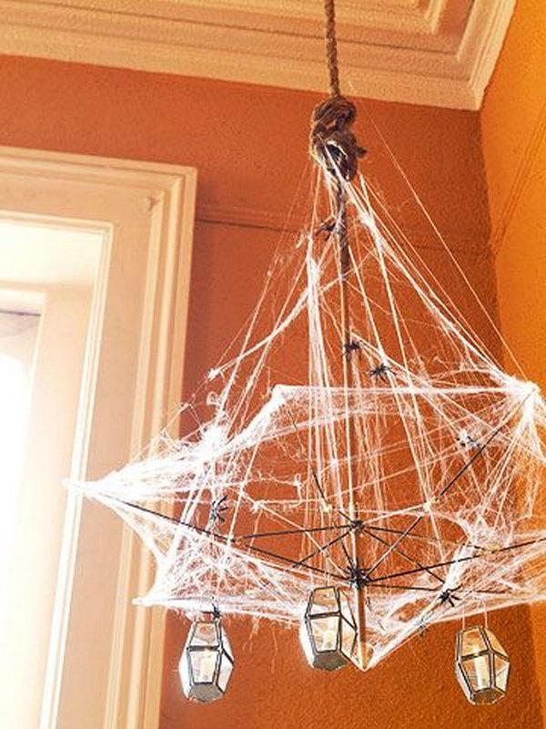Haunting light fixture for halloween.