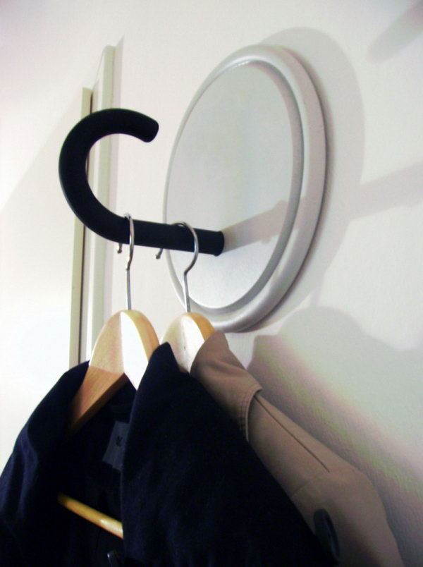 Coat rack from old umbrella.