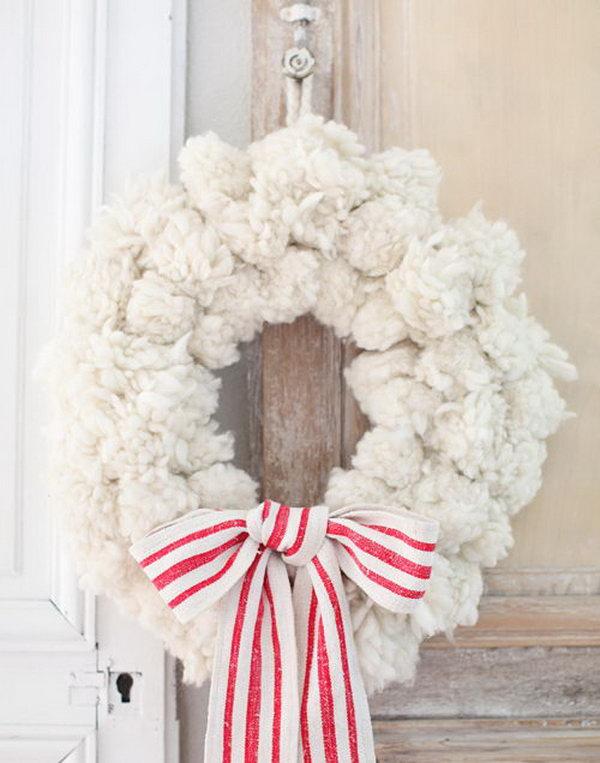 Pompom Wreath.