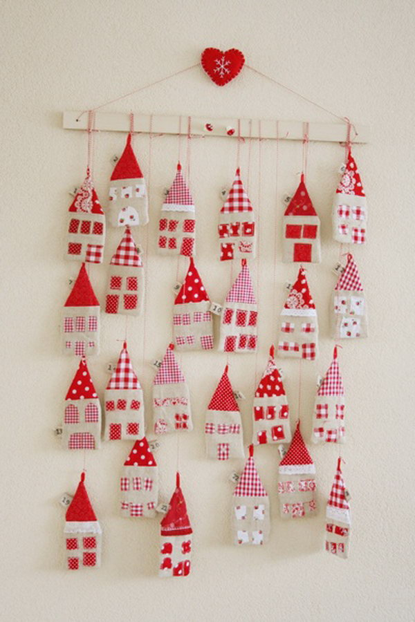 Little houses advent calendar. This advent calendar is a fun, popular way for kids and adults to count down the days until Christmas. Kids would love the surprises hidden behind each day.