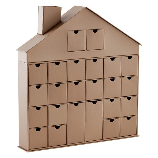 This 24 drawer decorative house makes the ideal advent calendar. This advent calendar is a fun, popular way for kids and adults to count down the days until Christmas. Kids would love the surprises hidden behind each day.