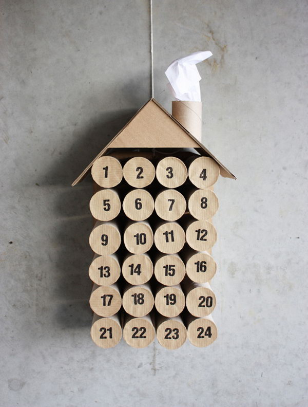 Toilet paper roll advent. This advent calendar is a fun, popular way for kids and adults to count down the days until Christmas. Kids would love the surprises hidden behind each day.