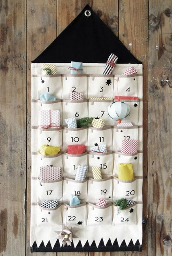 Cute advent calendar. This advent calendar is a fun, popular way for kids and adults to count down the days until Christmas. Kids would love the surprises hidden behind each day.
