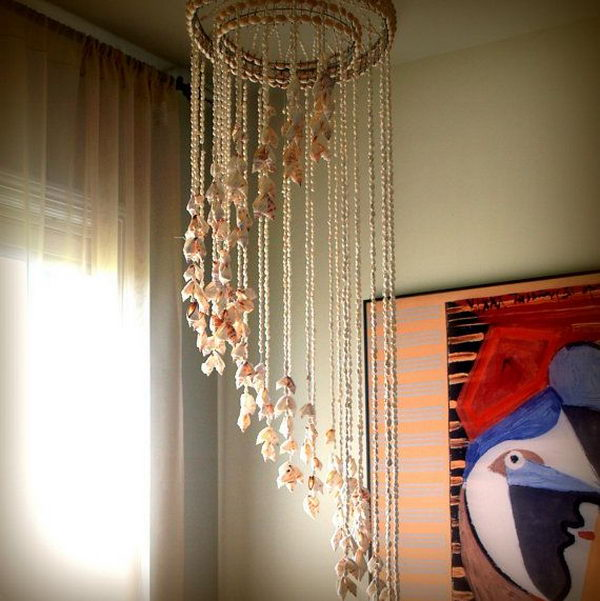 30 Creative Ceiling Decorating Ideas That Will Make Your: 20 Cool Seashell Project Ideas 2017
