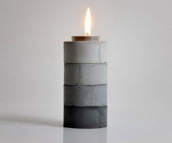 DIY Stackable Gradient Candle Holders,