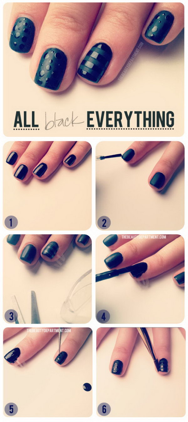 Cool and easy step by step nail art designs 2017 sometimes you just want a super chic black mani this ones for my girls who prinsesfo Images