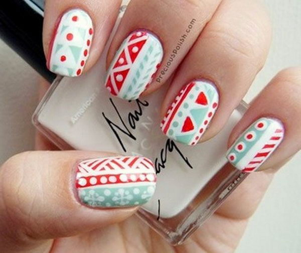 Cool Tribal Nail Art Ideas and Designs. Work to mark rites of passage, helped identify family members or work as a charm to ward off evil spirits. Wonderful for festive or special occasions.