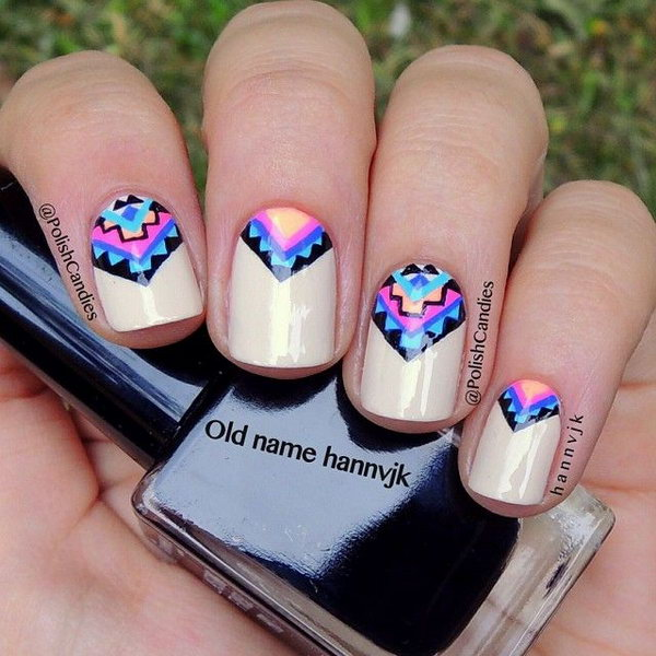 Cool Tribal Nail Art Designs 2017