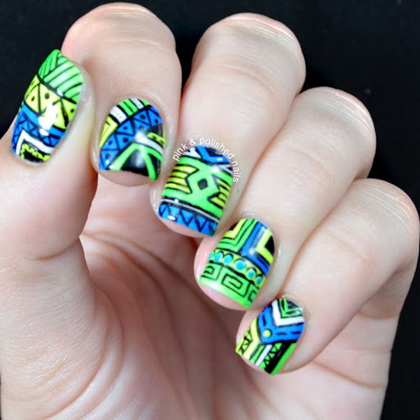 Cool tribal nail art designs 2017 cool tribal nail art ideas and designs work to mark rites of passage helped prinsesfo Image collections