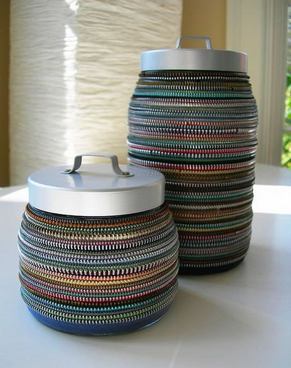 Amalia Versaci uses vintage zippers to create accessories and home decor,