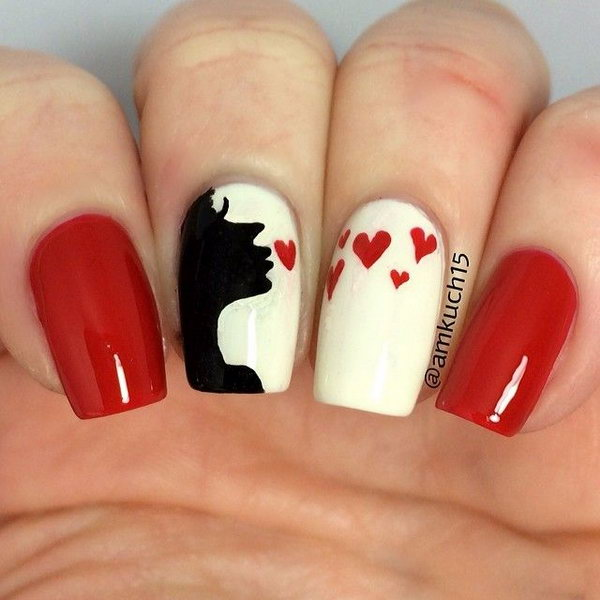 Valentine's Day is coming soon, and it doesn't only pertain to home decorating, crafting and picking gifts for your loved one. You can also decorate your nails to match the season. Take a look at these sweet kiss nail art designs and then choose one of them for yourself. Your nails will look just as sweet as the holiday is and melt your partner's heart.
