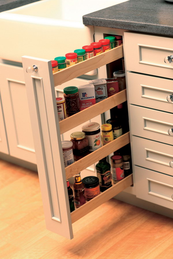 in the kitchen vertical racks are perfect for storing and organizing spices and other things. beautiful ideas. Home Design Ideas