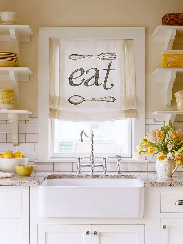 Creative Kitchen Window Treatment,