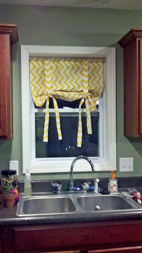 No Sew Roman Shades,