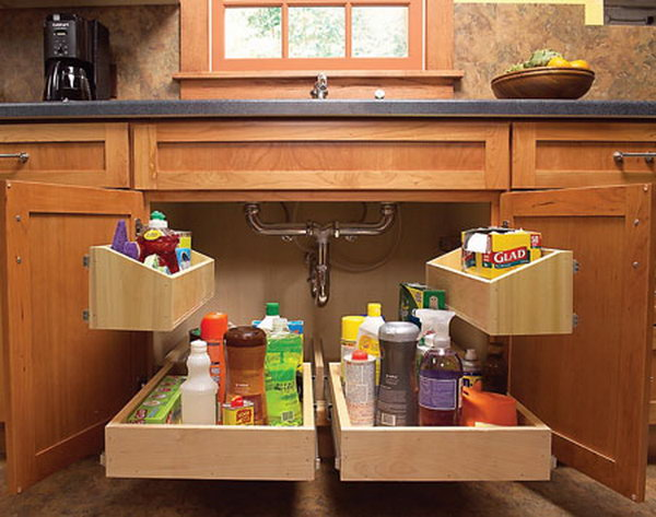 The Storage Space Under The Kitchen Sink Is Usually Dark And Dingy. These  Roll Out