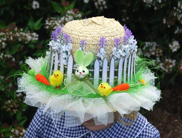 Flower wreath easter hat decorate your easter hat with a beautiful