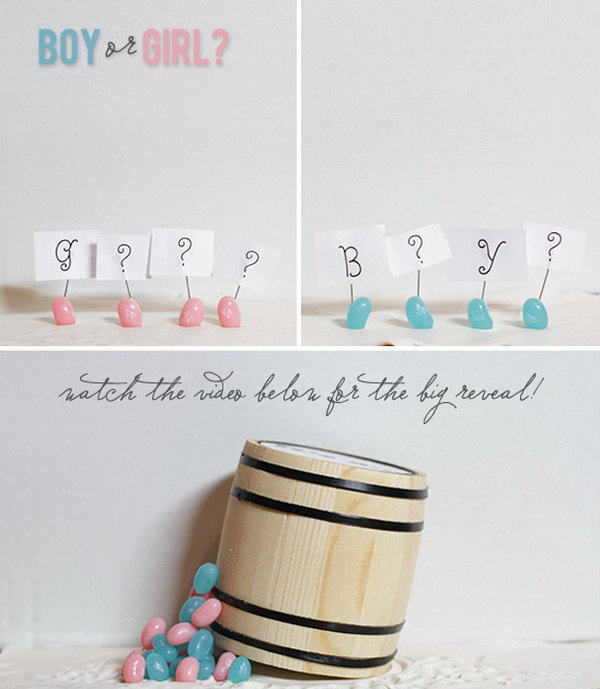 Adorable Stop Motion Gender Reveal Party. Take a look at the darling film to find out whether it's a girl or boy to share the great news with your friends and relatives.