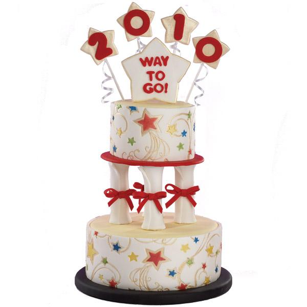 Salute the Students Cake. Serve this gorgeous graduation cake in a star-studded style. Imprint the cool constellations to highlight its dazzling peal dust colors for the great graduation ceremony.