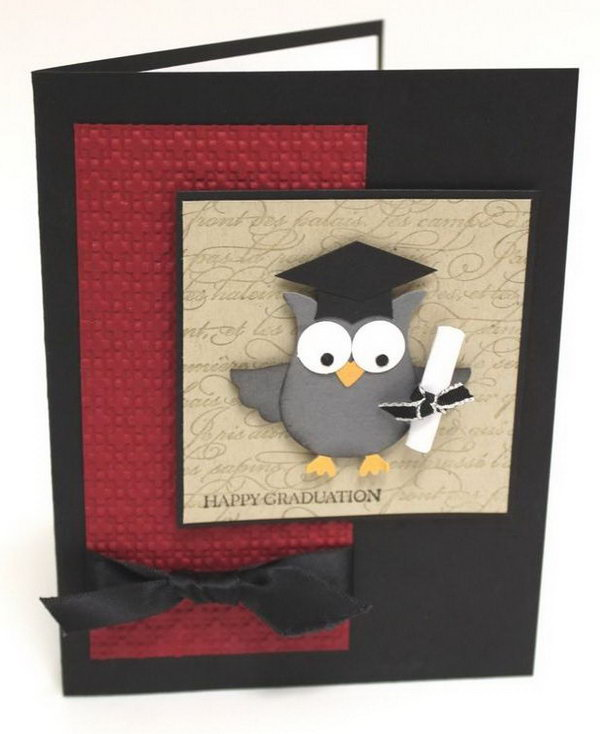 Awesome Graduation Card Ideas To Make Part - 7: Wise Owl Graduation Card. This Awesome Graduation Card Features An Adorable  Owl Holding The Diploma