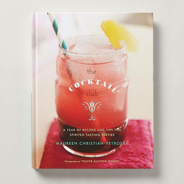 Cocktail Club. Get more knowledge about cocktails with this chatty book which culls a year's worth of recipes from the past and present. The recipient will appreciate your genuine graduation gift to know more about unique drinks to broaden their views.