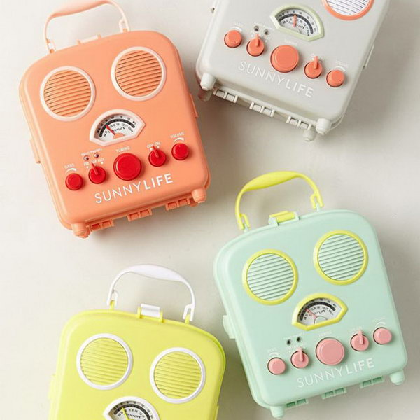 Sunny Life Beach Radio. When the graduates move on to society, send them these adorable sunny life beach radios to light up the whole day with its bright colors like sunshine. They can bring pleasure when the recipients are down.