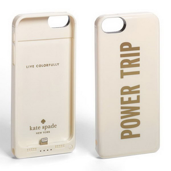 Kate Spade Portable Charger. Juice up their phone or other devices with this portable charger for convenience to refill your device with extra energy throughout the day.