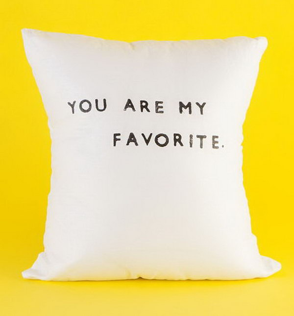 You Are My Favorite Linen Pillow. This linen pillow is adorably handmade with pure flax linen. It's perfect for the graduate's beautiful late night dream.