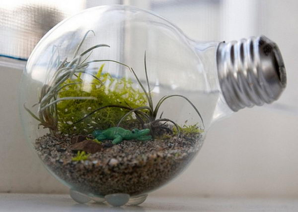 Creative Light Bulb DIY Idea. Instead of just throwing them away, repurpose them as some creative things.