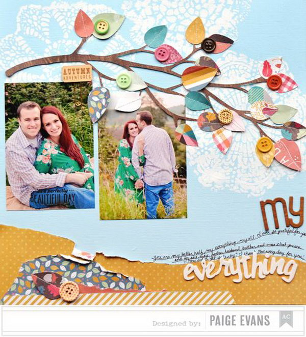 You can always enjoy the nature beauty with this leaf themed layout. Learn how to design it in details here.