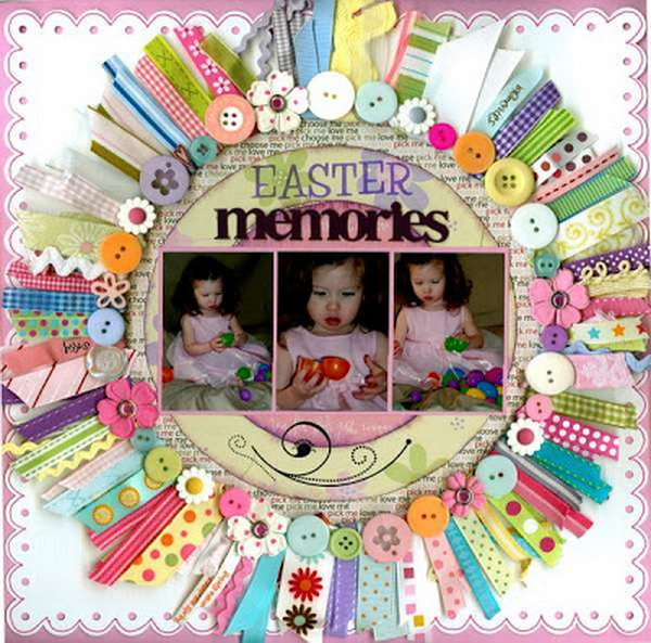 Colorful buttons circle with pictures in .It's great for baby boy or baby girl's layout with much cuteness.