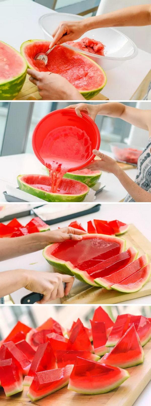 Watermelon Jell-O Shots.