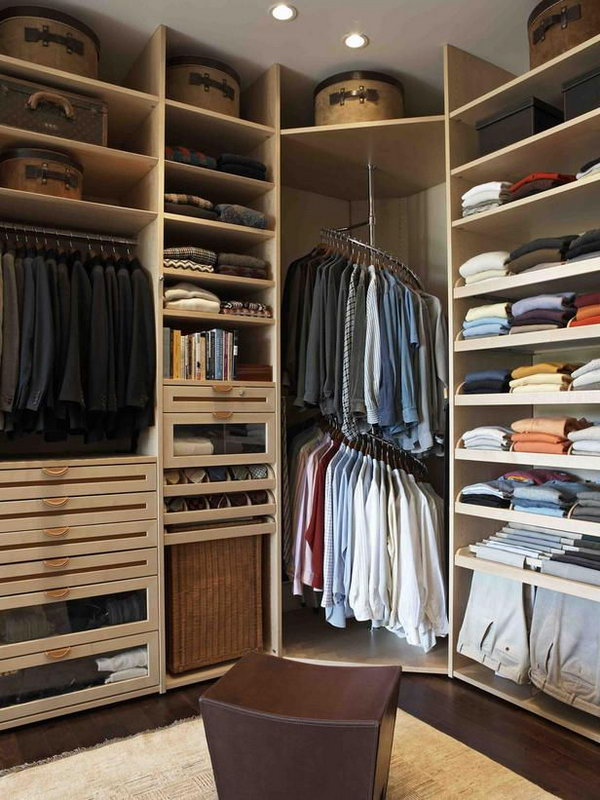 25 creative ideas for bedroom storage 2017 for Extra closet storage