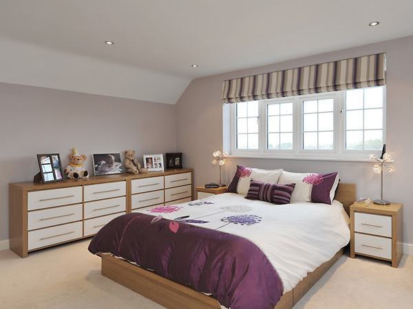 Hidden Drawers. Take advantage of the storage space beneath the bed, you can also place chest of drawers to keep your bedroom tidy and clean and make it more spacious.
