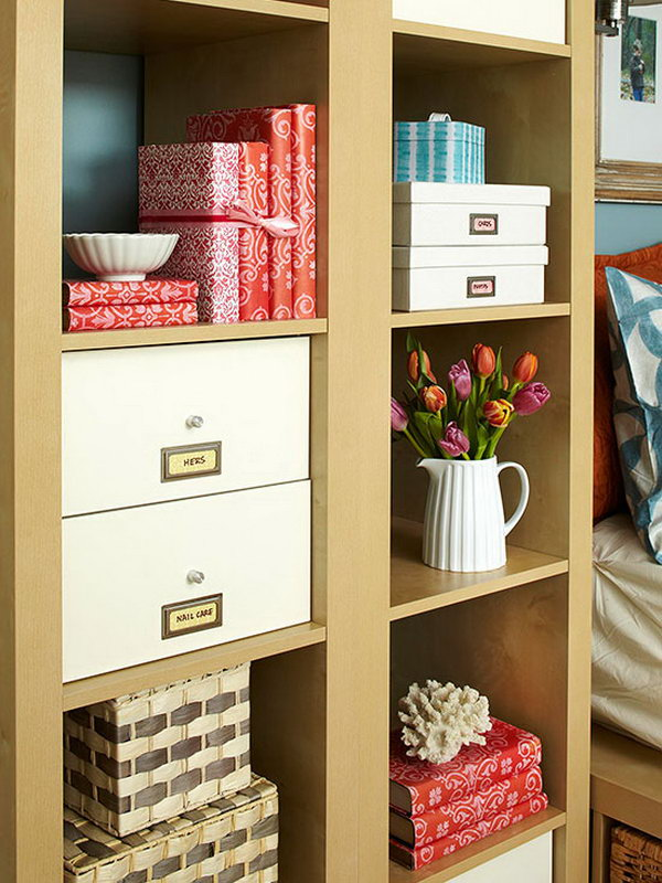 Headboard Storage. Mix open and closed storage units around the headboard to satisfy your different needs. The open one to display beautiful accessories and the closed one to conceal necessities that may look a little messy.
