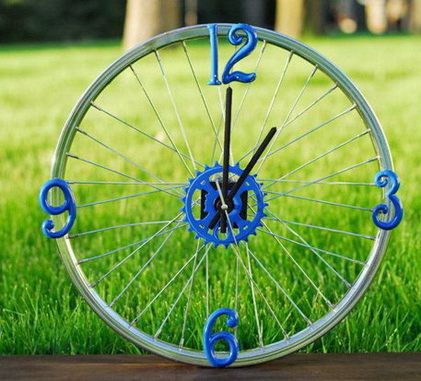 Bicycle Rim Clock. This project is so cool and would be a favourite of a biking enthusiast in your family.  DIY one for Father's day and make Dad feel extra special. See the tutorial show you how to make one.