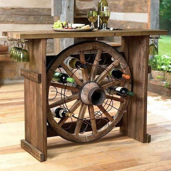 Rustic Wood Wine Bars.