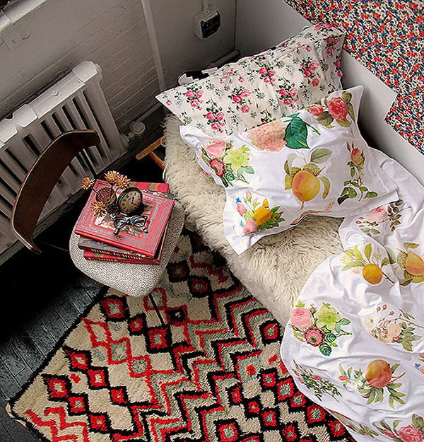 Iron-transfer Floral Duvet Cover. Print images on iron-on transfer paper, use your prepared iron to set the transfer for the pillow you want to print on. It's so great to sleep in style with this beautiful patterned pillow.