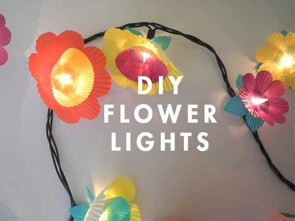 Flower Lights. Cut multi-petal flower from the cupcake paper and cut X in the center, layer cupcake paper to make flowers. It serves as a beautiful decor that girls may like as well as magnificent illumination as well.