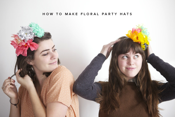 Take crepe paper and wrap around the scrunched up ball twisting it at the bottom. Add the curved petals and wrap the petals around the center and pinch it tight at the base. Attach flowers to the headband to finish off its beautiful look.