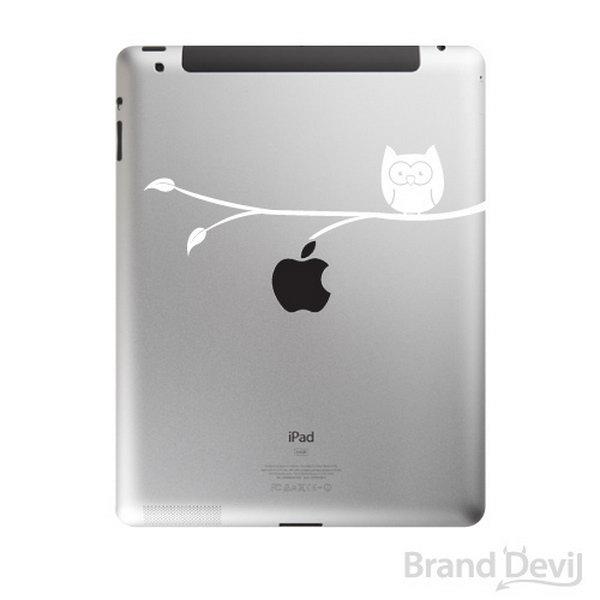 Cute owl engraving idea for iPad.