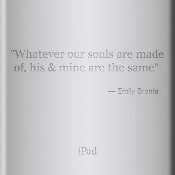 Romantic ipad engraving ideas.